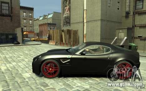 Alfa Romeo 8C Competizione v1 for GTA 4 left view
