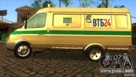 Gazelle 2705 transportation services for GTA San Andreas left view