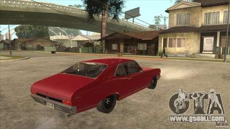 Chevrolet Nova SS for GTA San Andreas right view