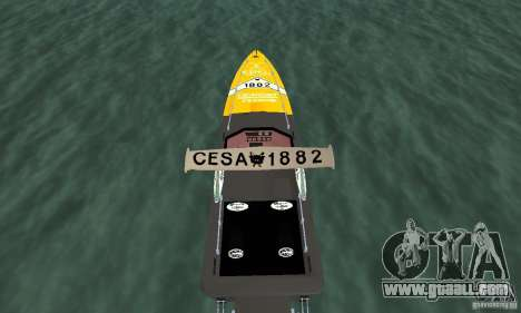 Cesa Offshore for GTA San Andreas back view
