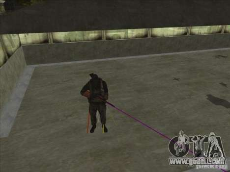 Weapon with laser for GTA San Andreas