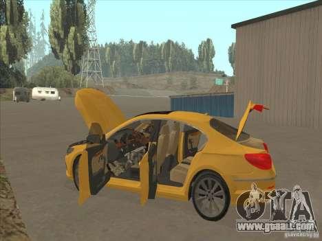 Volkswagen Passat CC for GTA San Andreas bottom view