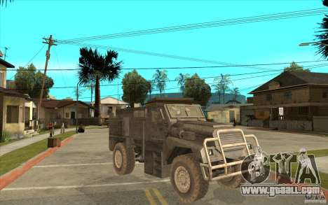 Military Truck for GTA San Andreas inner view