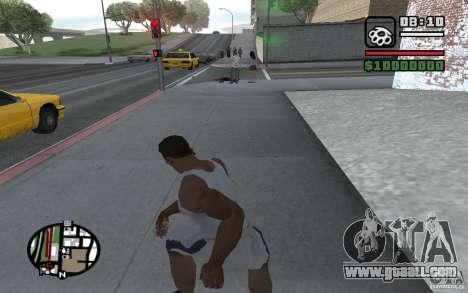 Knife throwing for GTA San Andreas fifth screenshot