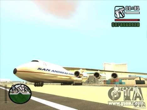 Antonov an-225 for GTA San Andreas left view