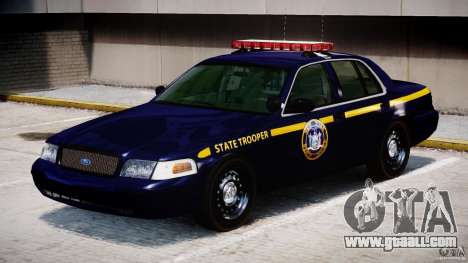 Ford Crown Victoria New York State Patrol [ELS] for GTA 4 left view