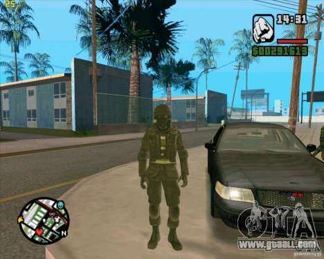 Skin SAS for GTA San Andreas third screenshot