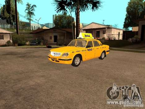 Gaz-31105 Volga Taxi for GTA San Andreas back view