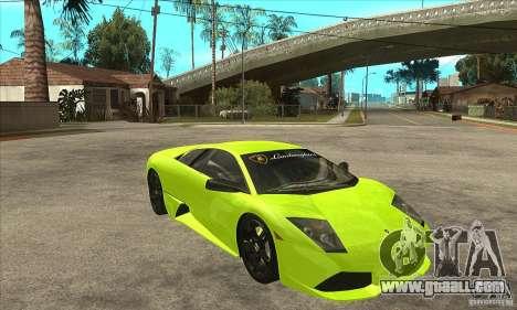 Lamborghini Murcielago LP640 for GTA San Andreas inner view