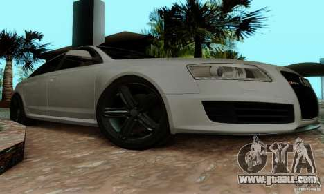 Audi RS6 2009 for GTA San Andreas inner view