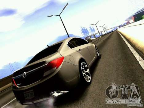 Opel Insignia for GTA San Andreas left view