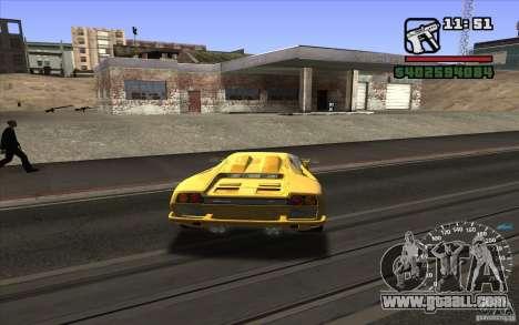 Lamborghini Diablo SV for GTA San Andreas right view