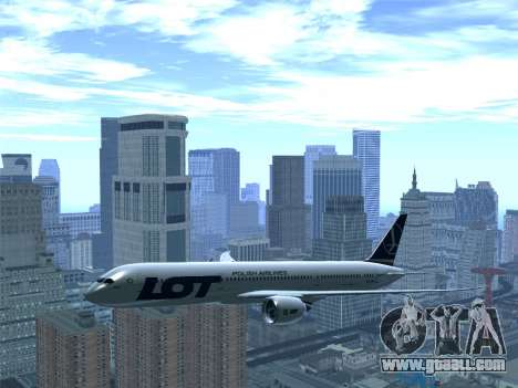 Boeing 787-9 LOT Polish Airlines for GTA San Andreas bottom view