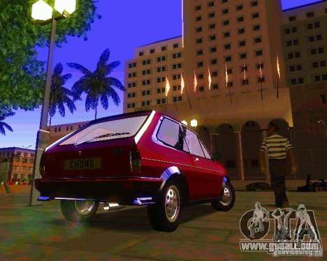 Ford Fiesta XR2 Mk2 1984 for GTA San Andreas left view