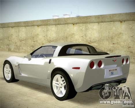Chevrolet Corvette Z06 for GTA San Andreas left view