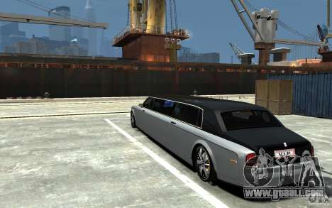 Rolls-Royce Phantom Sapphire Limousine v.1.2 for GTA 4 back left view