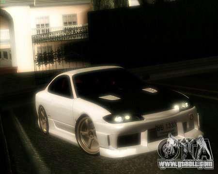 Nissan Silvia for GTA San Andreas inner view