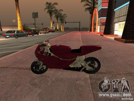 Turbine Superbike for GTA San Andreas back left view
