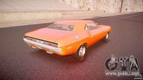 Dodge Challenger v1.0 1970 for GTA 4 upper view