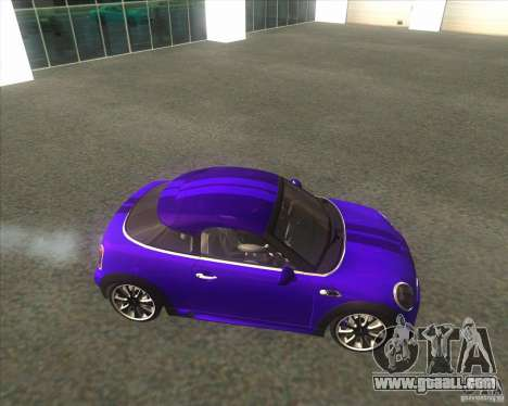 Mini Coupe 2011 Concept for GTA San Andreas left view