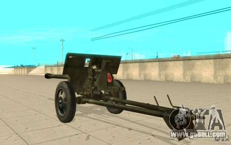 The ZiS-3 gun for GTA San Andreas back left view