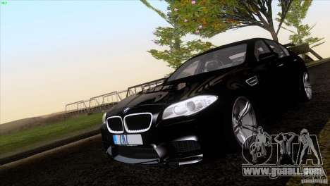 BMW M5 2012 for GTA San Andreas inner view