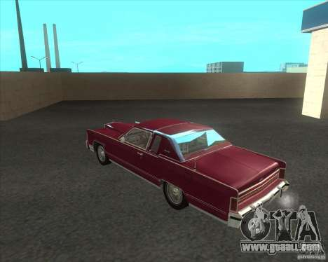 Lincoln Continental Town Coupe 1979 for GTA San Andreas back left view