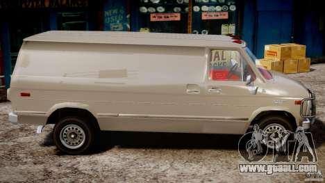 Chevrolet G20 Vans V1.1 for GTA 4 back view
