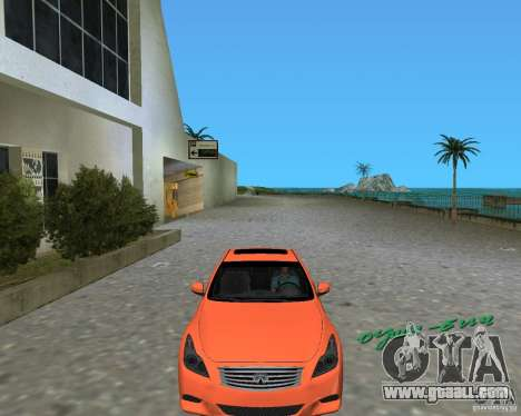Infinity G37 for GTA Vice City back left view