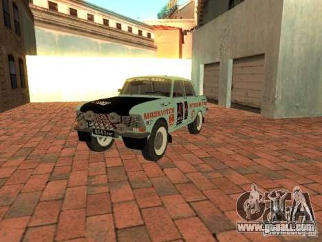 Moskvich 412 Rally Version for GTA San Andreas