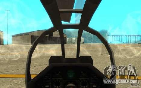 Cobra for GTA San Andreas inner view