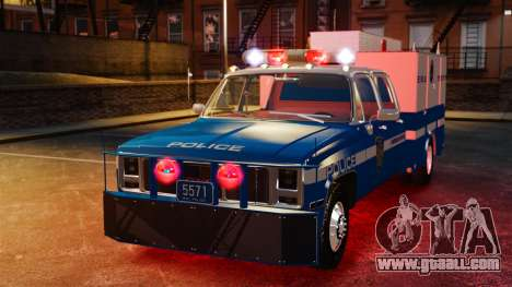 GMC C3500 NYPD ESU for GTA 4 back view
