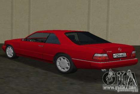 Mercedes-Benz E 320 (C124) for GTA Vice City left view