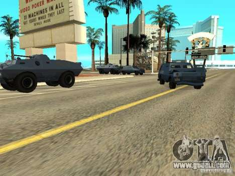 S.W.A.T. and FBI Truck ride through the streets  for GTA San Andreas third screenshot