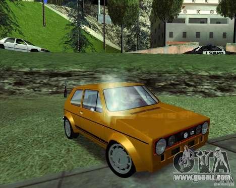 Volkswagen Golf MK 1 GTI for GTA San Andreas right view