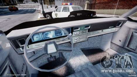 Chevrolet Impala Police 1983 for GTA 4 back view