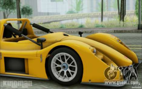 Radical SR3 RS 2009 for GTA San Andreas back view
