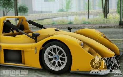 Radical SR3 RS 2009 for GTA San Andreas back view