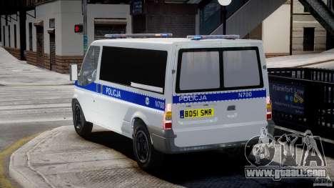Ford Transit Polish Police [ELS] for GTA 4 back left view