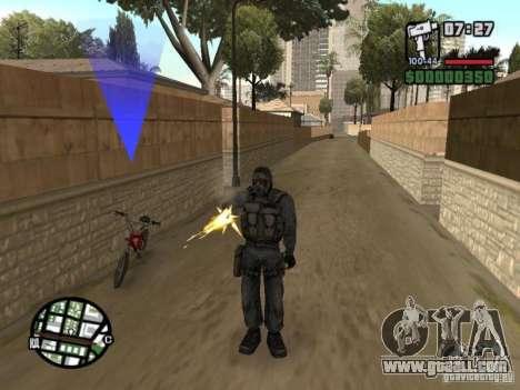 Stalker mercenary in mask for GTA San Andreas second screenshot