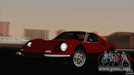 Ferrari 246 Dino GTS for GTA San Andreas back left view
