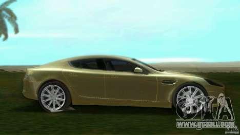 Aston Martin Rapide for GTA Vice City left view