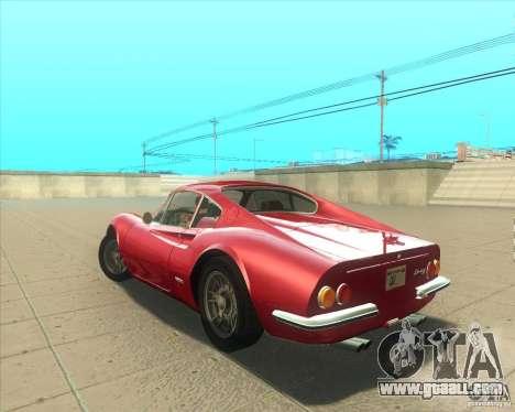 Ferrari Dino 246 GT for GTA San Andreas left view