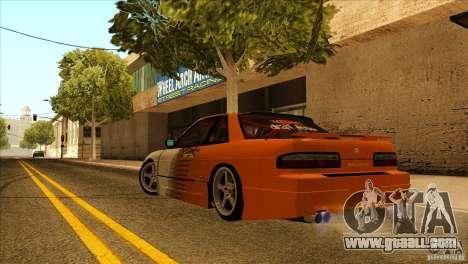 Nissan Silvia S13 MyGame Drift Team for GTA San Andreas back view
