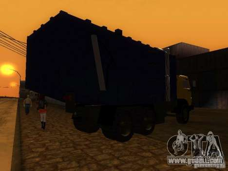 KAMAZ 53212 garbage truck for GTA San Andreas back left view