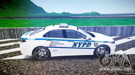 Honda Accord Type R NYPD (City Patrol 2322) ELS for GTA 4 left view
