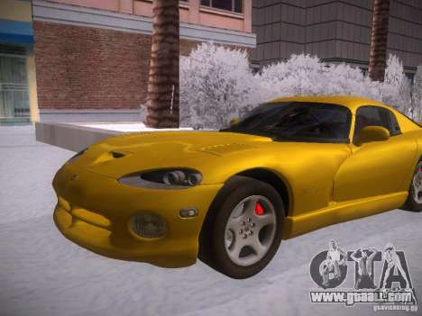 Dodge Viper 1996 for GTA San Andreas back left view