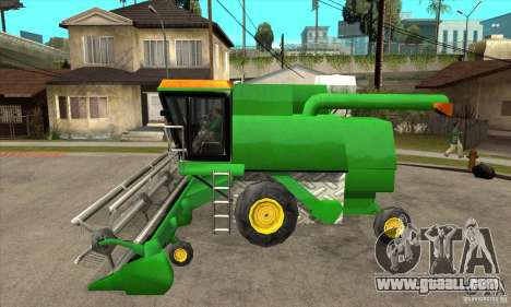 Combine Harvester Retextured for GTA San Andreas left view