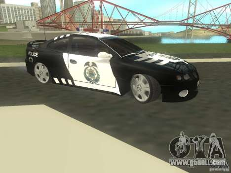 Pontiac GTO Police for GTA San Andreas left view