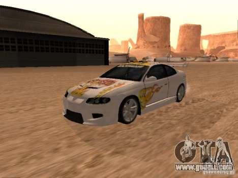 Vauxhall Monaro for GTA San Andreas interior